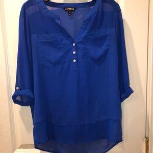 Express Blue Blouse